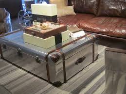 coffee table storage leather trunk coffee table steamer