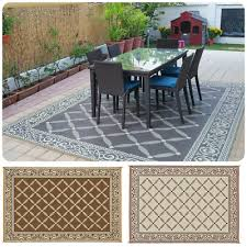 indoor outdoor patio mat rv 9 x12 reversible camping picnic carpet deck rug pad