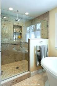 shower half wall walk in shower with half wall design build traditional bathroom walk in shower