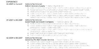 Sample Resume Auto Mechanic Vehicle Repair Sample Resume Podarki Co