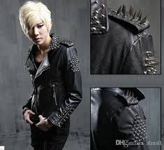 new punk mens boys celebrity slim fit coat rivet spike pu leather jacket jackets for coats mens from almall 255 84 dhgate com