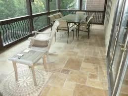 travertine tile on screen porch floor outdoor home ideas porch tile flooring