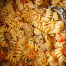 instant pot sausage pasta in cream