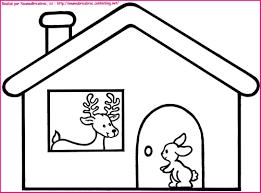 Dans Sa Maison Un Grand Cerf Coloriage Pour Illustr La Comptine Coloriage Maison Enfant L