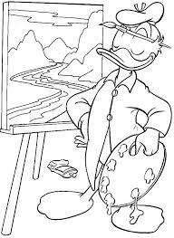 Donald Als Schilder Kleurplaat Jouwkleurplaten
