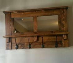 Coat Hook Rack With Mirror Mirror coat rack rustic mirror antique hooks entryway mirror 48