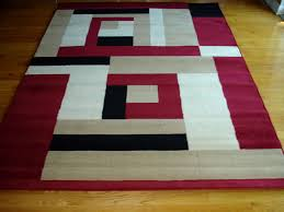 beige and white area rug monumental modern red black design 5x8 carpet new home interior 27