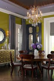 dining room crystal lighting. Dining Room Decor And Greenish Yellow With Shades Gray Color Schemes Crystal Chandelier Lighting Fixtures Round Wood Table Chairs