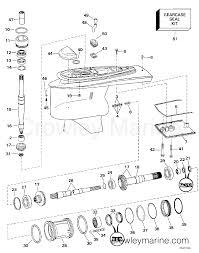 Omc Stern Drive Propeller Chart Lower Gearcase Dual Prop 1997 Omc Stern Drive 5 7