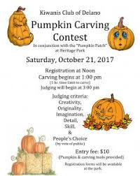 pumpkin carving contest flyer kiwanis club of delano to have pumpkin patch on oct 16 21 and 23 28