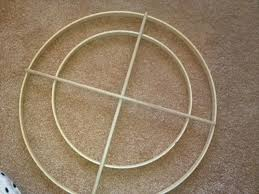 A wooden dowel hoop that can be found at most Home Depots or craft stores.