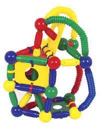amazoncom guidecraft magnetos master builder  piece toys  games