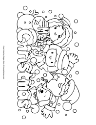 Whether they are religious pictures depicting baby jesus in a manger or fun images of santa and his reindeer, your kids will enjoy coloring these printable christmas pictures. Cute Christmas Coloring Page Free Printable Pdf From Primarygames