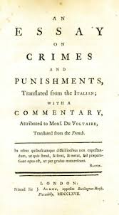 an essay on crimes and punishments wythepedia the george wythe by cesare beccaria