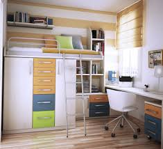 Floating Loft Bed Bedroom Modern White Loft Bed With Wardrobe And Assorted Color