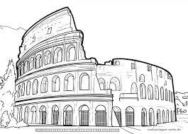 Kleurplaat Colosseum Rome Gratis Kleur Bladsye Vir Aflaai