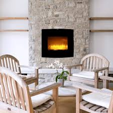 caesar fireplace wfp 26c 26 inch wall mount electric fireplace with stone pebbles and flame effect 1500w adjustable temperature w remote control