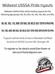 Usssa Softball Age Chart 2018 2019 2020 Tryout Info Harris Baseball Softball Inc