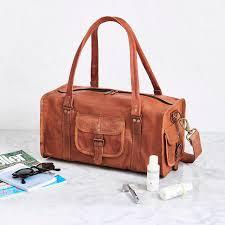 men s leather duffel bag