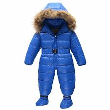 russia winter 2016 infant boy girl coats outwear baby snowsuit down rompers winter roupas thermal overalls