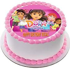 Amazoncom Dora And Friends 2 Edible Birthday Cake Or Cupcake