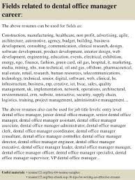 Office Manager Resume Samples Best Of Top 24 Dental Office Manager Resume Samples