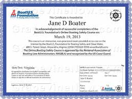Safety Boating Certificate Safety Boating