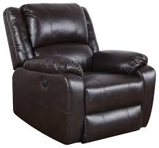 plush bonded leather power electric recliner chair