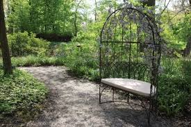 metal garden arbour bench seat ferailles