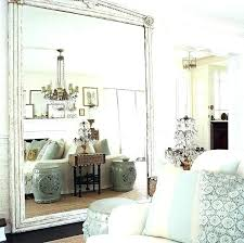 large wall mirror chic large frameless