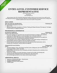 Entry Level Customer Service Resume Extraordinary EntryLevel Customer Service Representative Resume Template Free