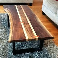 natural edge wood coffee table live edge slab desk walnut live edge coffee table k design