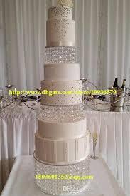 acrylic crystal chandelier wedding round cake stand 3 tier dessert