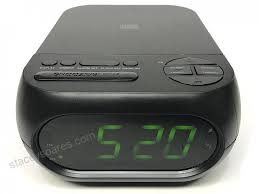 onn cd am fm alarm clock radio with usb port to charge devices with