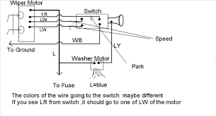 ez wire to stock wiper motor question ih8mud forum you will have an extra wire you don t need that i guess would be the third speed in the diagram one of the blue w wires could be blue r in your motor