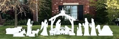 outdoor wooden nativity set outside nativity set complete large white outdoor nativity scene nativity scene set