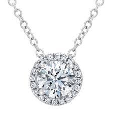 forevermark center of my universe round diamond halo pendant 5 8ctw item 19274794 reeds jewelers