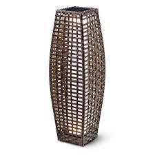 roma rattan solar floor lamp