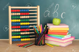 school desk background. Simple Desk Stock Photo  Toy Abacus Books And Pencils On Table School Desk  Background Throughout School Desk Background I