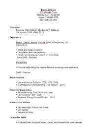 Resume Examples Templates Good High School Resume Examples For