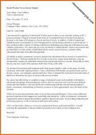 Social Worker Cover Letters Social Work Cover Letter Family Social ...