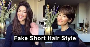 Here gorgeous short hairstyles for long faces and choose which one works best. How To Fake Stylish Faux Pixie Haircut With Your Long Hair