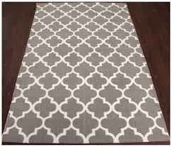 rugsville moroccan trellis gray cotton handmade flatweave rug 21194
