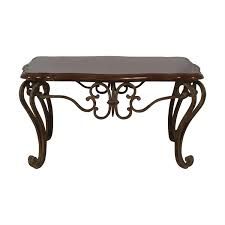 wood and metal coffee table nyc