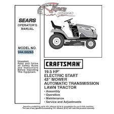 craftsman tractor parts manual 944 60263