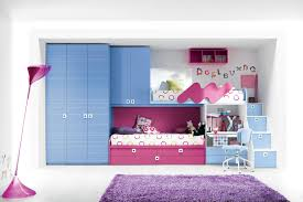 modern bedroom design for teenage girl. Cozy Teen Girls Modern Bedroom Design With Space Saving Loft Bed Its Integrated Aqua Blue Closet And Study Desk Also Extra Underneath Purple For Teenage Girl O