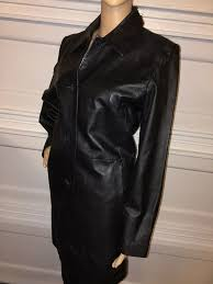details about colebrook co black leather jacket coat size m medium motorcycle riding biker