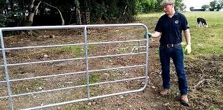 farm fence gate. Farmer Know-How: Hanging A Gate Farm Fence E