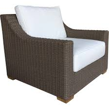 padma s plantation nautilus outdoor lounge chair in kubu grey resin wicker fabric cushion