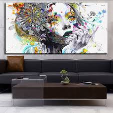 dp artisan modern wall art girl with flowers oil painting prints painting on canvas no frame